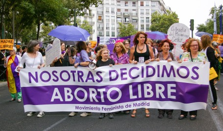 marcha favor del aborto