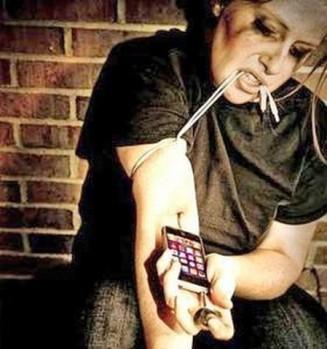 inyección de celular