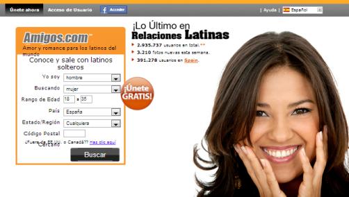 Amigos.com se diferencia de los otros porque es un sitio de citas especialmente diseñado para público latino.